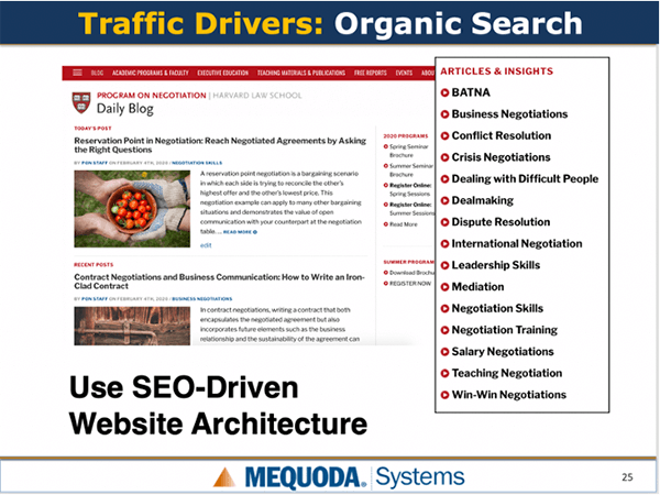 Traffic Drivers: Organic Search
