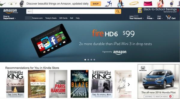 website business model retail - Amazon home 1