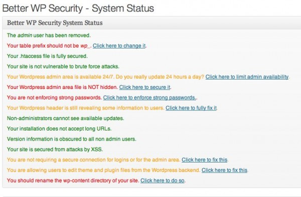 Better WP Security Plugin