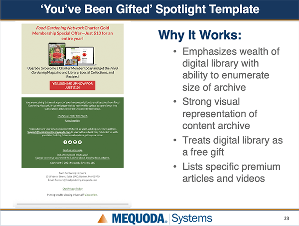 You've Been Gifted spotlight template